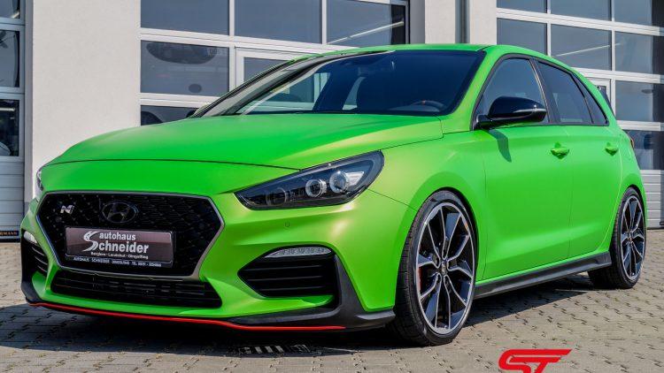 Hyundai i30N Foliert Grün